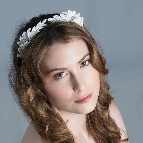 Modern Bridal Lace Tiara Lace by Genevieve Rose Atelier