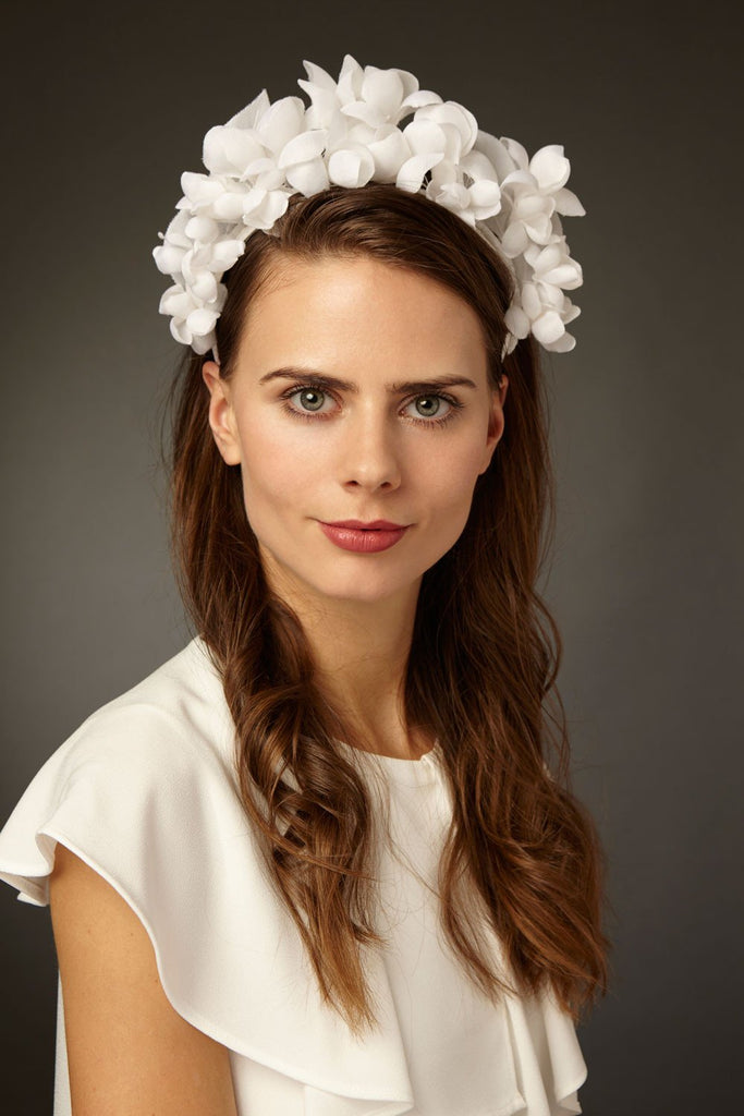 Bridal Silk Flower Crown by Genevieve Rose Atelier