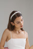 Flavia Bridal Headband with Tiny Petals by Genevieve Rose Atelier