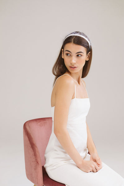 Torn Crinoline Bridal Headband by Genevieve Rose Atelier