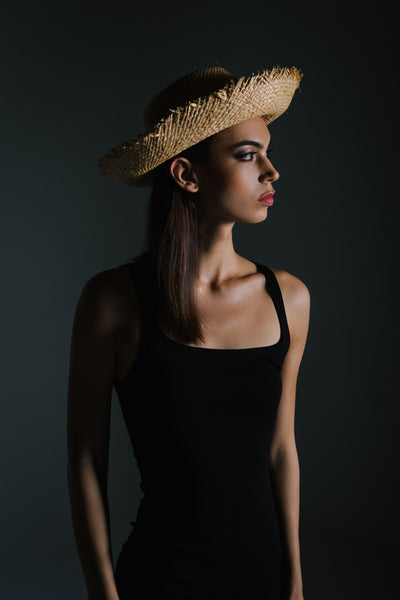 Upturned Straw Sunhat by Genevieve Rose Atelier as seen in Resident Magazine