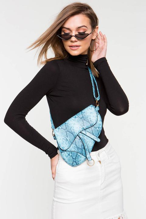 SNAKESKIN SADDLE BAG