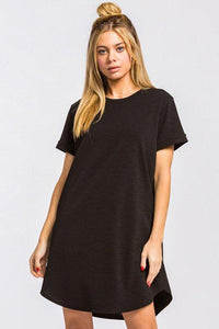 LBD ROUND NECK POCKET DRESS