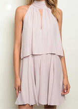 Load image into Gallery viewer, HIGH NECK LILAC RUFFLED DRESS