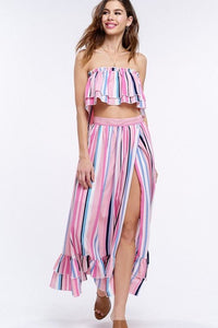 LOLLIPOP GANG LAYERED TOP AND SKIRT SET