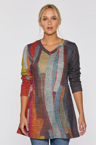 Mood Swing Soft Touch V-Neck Tunic