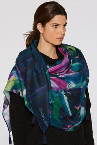 Hibiscus at Night Signature Scarf