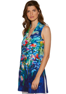 Full Bloom V-neck Tunic