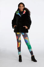 Load image into Gallery viewer, In the City Reversible Faux Fur Jacket