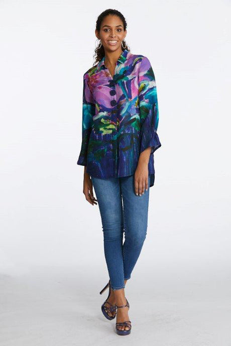 Hibiscus at Night Blouse