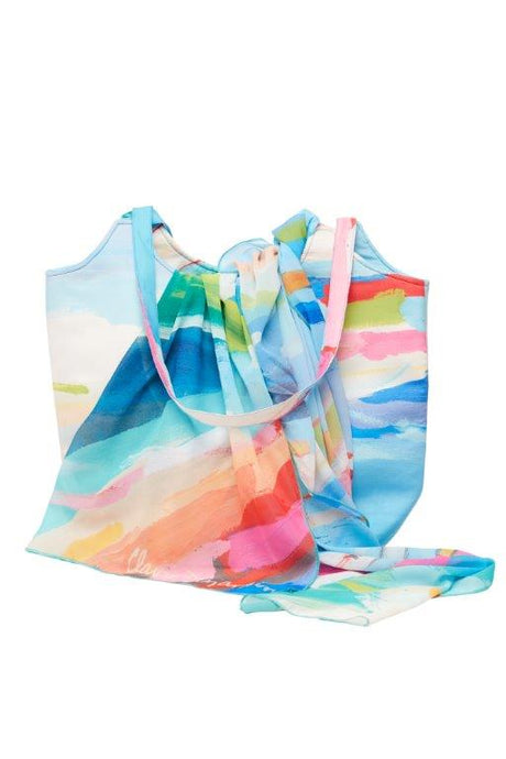 Fresh Air Tote Handbag and Scarf set