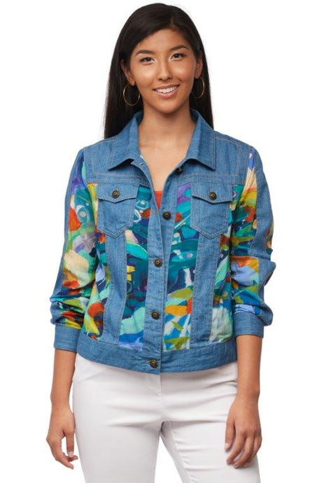 Loving the Land Patchwork Jean Jacket