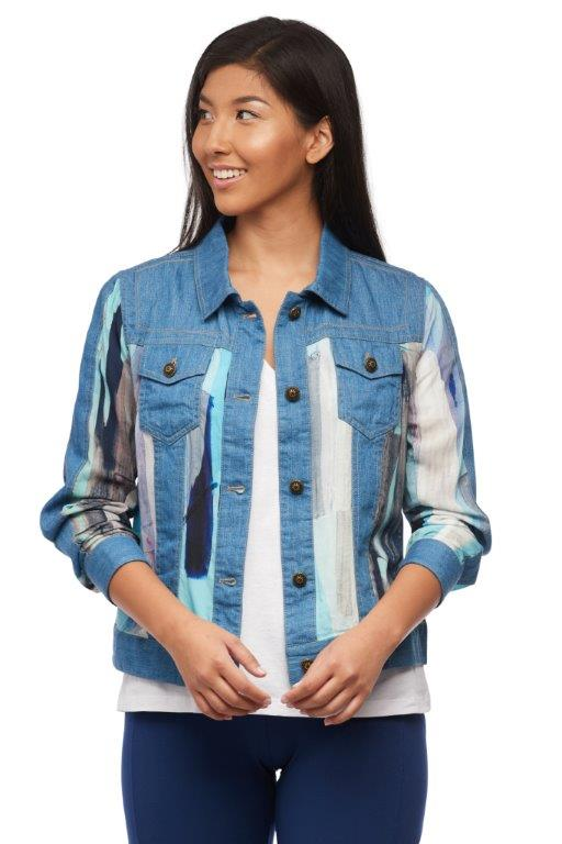 Clear as Day Patchwork Jean Jacket
