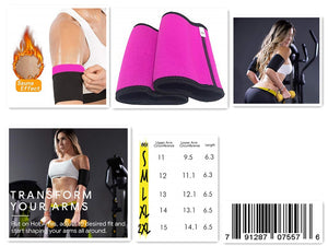 Arm Trimmers for Weight Loss - Seamless Arm Sleevess Slimmers for Women & Men Pair Sauna Sleeves Wraps Sweat Arm Bands Neoprene Compression Workout Fat Burning  Black …