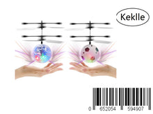 Load image into Gallery viewer, Keklle  Flyling Ball 2 Pack,  Flying Toy Helicopter Drone Infrared Induction with Built-in Flashing LED Light Gifts for Boys Girls