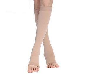 Compression Socks 20-30 mmHg (1 pair) for Women & Men Knee High Stockings-M