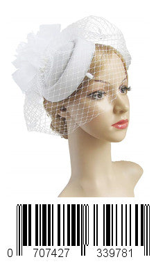 Keklle Fascinator Hair Clip Pillbox Hat Bowler Feather Flower Veil Wedding Party Hat