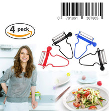 Load image into Gallery viewer, Upgraded Magic Trio Peeler (Set of 4), Vegetable Peeler, Stainless Steel Blades with Non-Slip Handles Peeler For Potato Fruit (4 Pack)