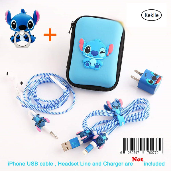 Ship by USPS, Keklle(TM) DIY Protectors Apple Lightning Data Cable USB Charger Data Line Earphone Wire Saver Protector for iPhone 5 5S SE 6 6S 7 8 Plus X IPad iPod iWatch (Upgrade Styles, Stitch)