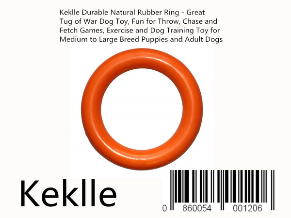 Keklle Durable Natural Rubber Ring - Great Tug of War Dog Toy, Fun for Throw, Chase and Fetch Games, Exercise and Dog Training Toy for Medium to Large Breed Puppies and Adult Dogs