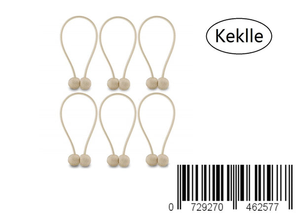 Keklle Curtain Tiebacks Magnetic, Drape Holders Holdbacks Decorative Weave Rope Clips Window Sheer Blackout Panels Home Office