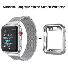 Load image into Gallery viewer, Compatible with Apple Watch Band 42mm with Case, Stainless Steel Mesh Milanese Loop with Adjustable Magnetic Closure Replacement for iWatch Band Compatible with Apple Watch Series 3 2 1