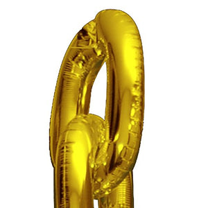 "90s Party Decorations Giant Balloon Chain Balloons Gold 40"" Birthday Hip Hop Theme Wedding Arch Supplies Retro Dance Link - 5 Linking 0s (Pack of (5) Links)"