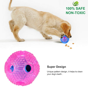 Keklle Dog Chew Toy - IQ Treat Ball Food Dispensing Interactive Toys for Small Medium Large Dogs - Nontoxic Rubber and Bouncy Durable Chew Ball - Cleans Teeth(2pcs)