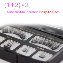 Load image into Gallery viewer, Dual Magnetic Eyelashes No Glue Best Full Strip Fake Lashes for Natural Look(1+2)2