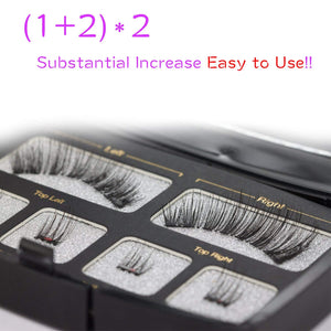 Dual Magnetic Eyelashes No Glue Best Full Strip Fake Lashes for Natural Look(1+2)2