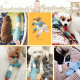Duck Dog Toy Squeaky Dog Toy Plush Stuffed Goose Puppy Dog Chew Toys for Small and Medium Dogs (Blue)