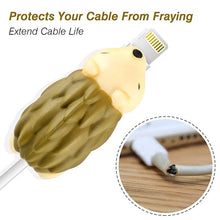 Load image into Gallery viewer, Cable Bite, Aukier Animal Bite Cable Protector Including Hedgehog / Panda / Shark / Dog / Chameleon / Tiger / Hippo for Phone Cable Cord Chargers - 7 Pack