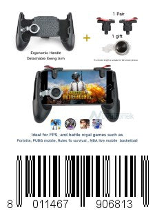 KEKLLE Mobile Game Controller,Game Pad Sensitive Shoot and Aim Keys Joysticks Game Controller for PUBG/Fortnite/Knives Out/Rules of Survival Gaming Triggers for iOS and Android