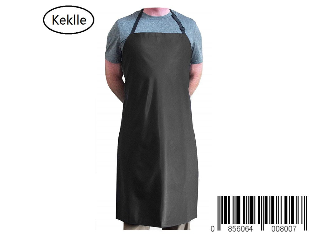 Keklle Black Heavy Duty Waterproof with Neck Adjuster Durable Long Kitchen Dishwashing Bib 41