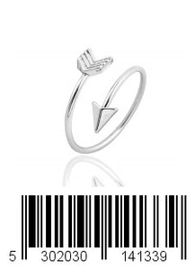Keklle Silver and Rose Gold Open Adjustable Love Arrow Ring for Girls