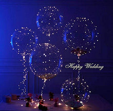 Load image into Gallery viewer, Keklle 18 Inch 5 PCS Led Light Up BoBo Balloon Colorful/Warm White Lights, Fillable Transparent Balloons with Helium, Great for Christmas Party, House Decorations, Wedding and Party Decoration(Warm White)