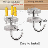 Keklle Stainless Steel Screws Mount Ceiling Hooks, coat Hanger (2 INCH , 4 PACK)