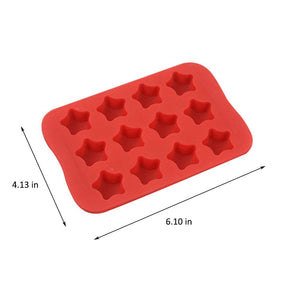 Silicone Baking Mold, Chocolate Molds&Candy Molds Set, Tray 4-in-1 Silicone Molds Set for Cupcakes,Muffins,Soap and Brownies-Red