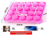 Keklle JNXD-119, 20-Cavity Ball Shape Baking Mold, Muffins Cupcakes Cookware Silicone Set, Best for Brownies, Pies, Lollipops, Candies, Jelly and Chocolate, Ice Cream Tray, 228/186/40mm (L/W/H), Pink
