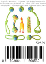 Load image into Gallery viewer, Dog Toys - Rope Toys - Dog Chew Toys - Puppy Teething Toys - Puppy Chew Toys - Rope Dog Toy - Puppy Toys - Small Dog Toys - Dog Toy Pack - Washable 100% Cotton Dog Rope Toys (8-Pack)