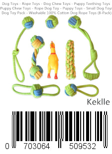 Dog Toys - Rope Toys - Dog Chew Toys - Puppy Teething Toys - Puppy Chew Toys - Rope Dog Toy - Puppy Toys - Small Dog Toys - Dog Toy Pack - Washable 100% Cotton Dog Rope Toys (8-Pack)