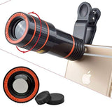 12X Optical Zoom Telescope Lens, Keklle Clip On Cell Phone Camera Lens for iPhone 6/6s Plus/7/8/SE, Samsung S8/S7/S6/Edge, LG, Moto, HTC, Sony and more