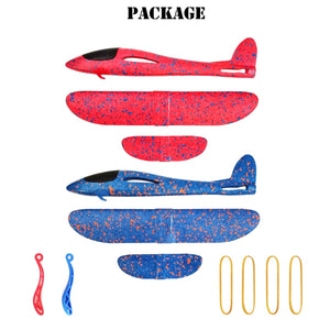 Keklle New Aerobatic Slingshot Plane 2 flight mode 2 pack glider airplane throwing foam aircraft outdoor sports flying toy for kids as gift,by