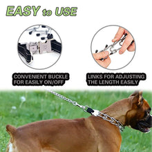 Load image into Gallery viewer, Keklle Pit Bull German Shepherd Training Metal Gear, Plated Prong Pet Collar with Quick Release Buckle, Adjustable Training Dog Collar Including 3 Extra Prongs and 10 Rubber Caps, Easy-On/Off, 18""