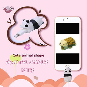 Cable Bite Charger Protectors Cute Animal Cord Cable Cord Data Line Cell Phone Accessory (8 Pack)