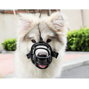 Keklle Dog Muzzle, Soft Basket Muzzle for Medium Large Dogs, Best to Prevent Biting, Chewing and Barking