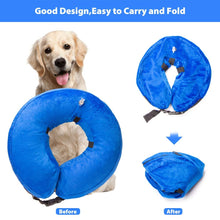 Load image into Gallery viewer, Keklle Dog Inflatable Collar, Protection Dog Collar Pet E-Collar for Pets Protect Injuries Rashes and After Surgery Blue