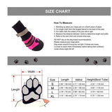 Keklle Waterproof Dog Boots Soft Soled Reflective Dog Shoes Soft Rubber Sole Intdoor Pet Dog Paw Protector