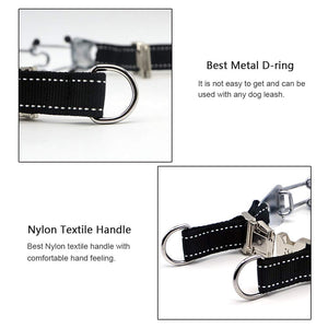 Keklle Pit Bull German Shepherd Training Metal Gear, Plated Prong Pet Collar with Quick Release Buckle, Adjustable Training Dog Collar Including 3 Extra Prongs and 10 Rubber Caps, Easy-On/Off, 18""