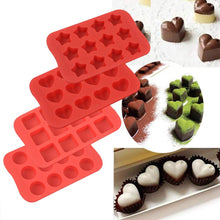 Load image into Gallery viewer, Silicone Baking Mold, Chocolate Molds&Candy Molds Set, Tray 4-in-1 Silicone Molds Set for Cupcakes,Muffins,Soap and Brownies-Red